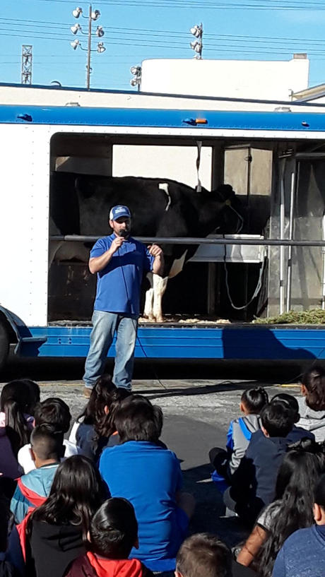 Students Learn About Cows from a Special Guest