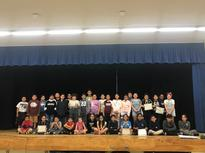 Students honored for exceeding standards in 2018.